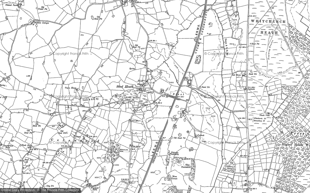 Old Map of Historic Map covering Lighteach Coppice in 1879