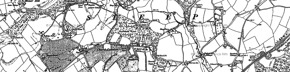 Old map of Ashford Chace in 1895