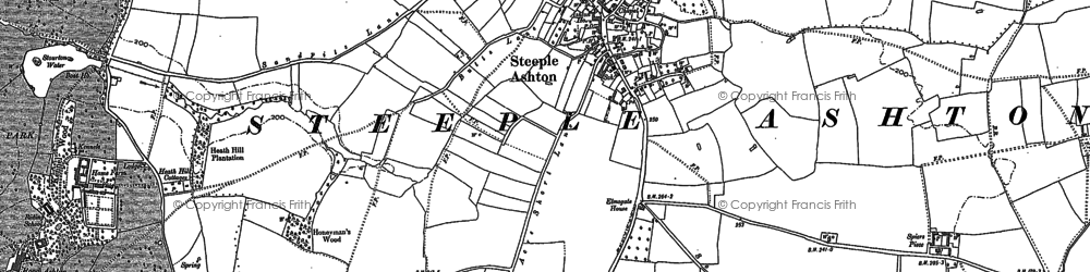 Old map of Steeple Ashton in 1899