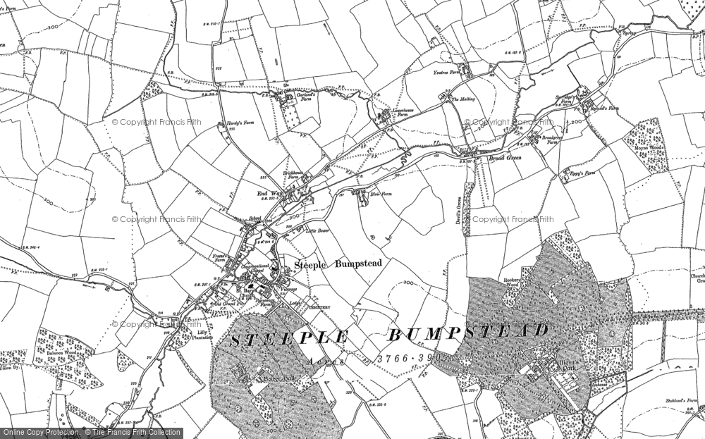Old Map of Historic Map covering Latchley's Fm in 1896