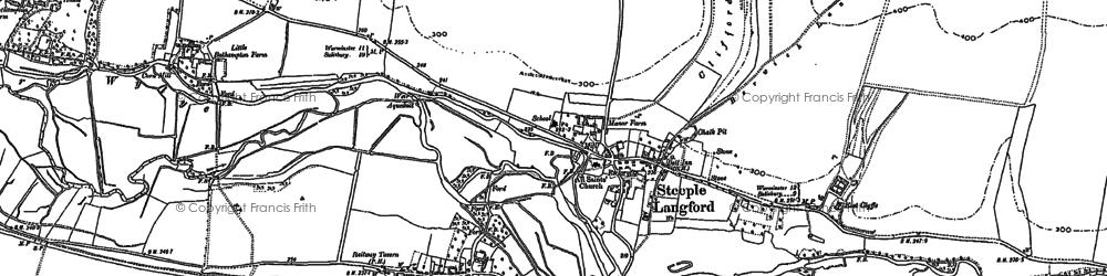 Old map of Yarnbury Castle in 1899