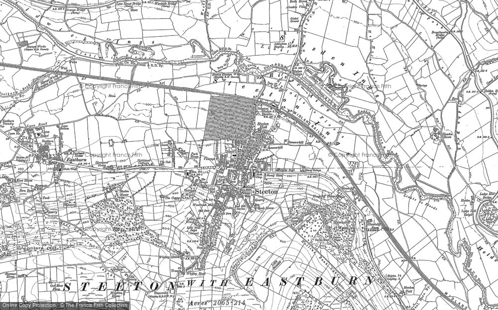 Old Map of Historic Map covering Airedale in 1889
