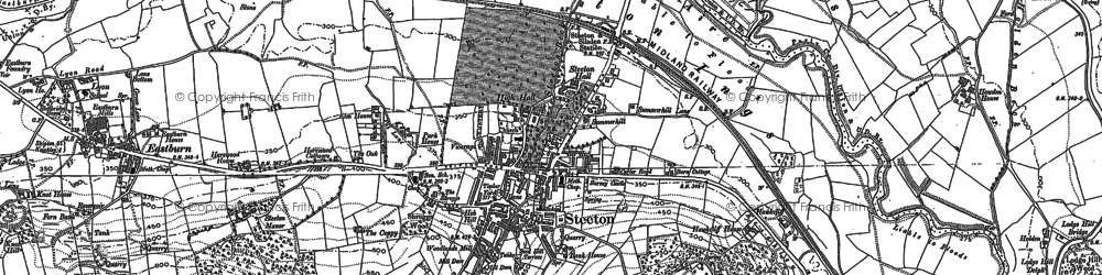 Old map of Airedale in 1889
