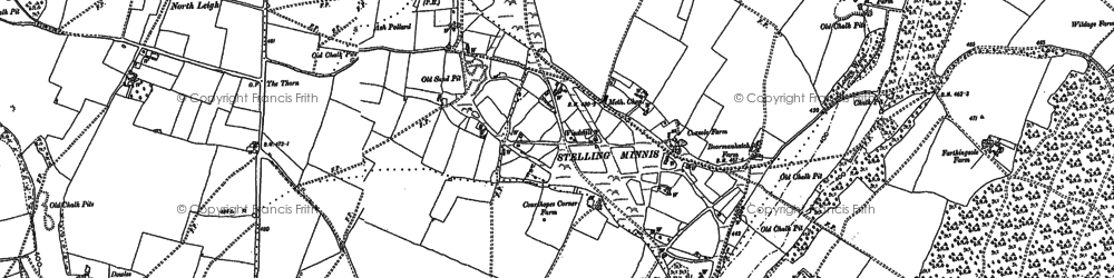 Old map of Yockletts Banks in 1896