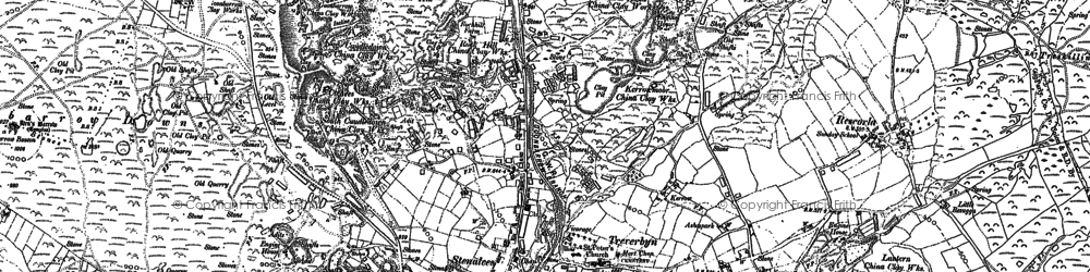 Old map of Stenalees in 1881