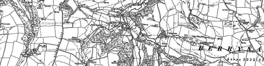 Old map of Lee in 1886