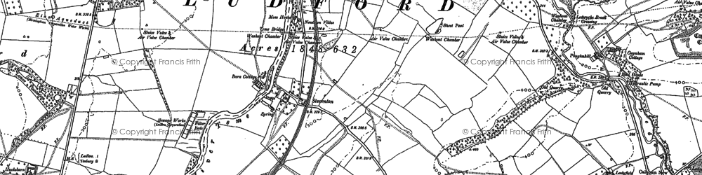 Old map of Tinkers Hill in 1884