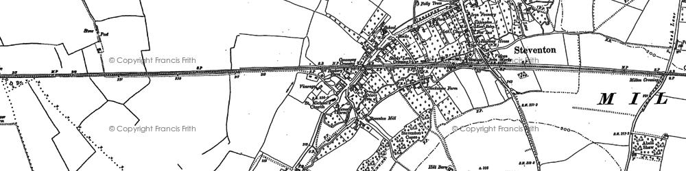 Old map of Steventon in 1898