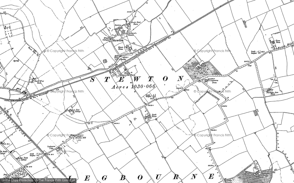 Old Map of Stewton, 1886 - 1888 in 1886