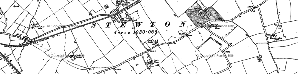 Old map of Legbourne Furze in 1886