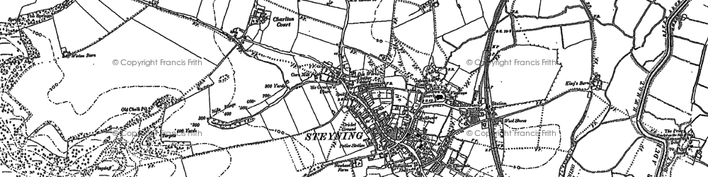 Old map of Wiston Barn in 1875