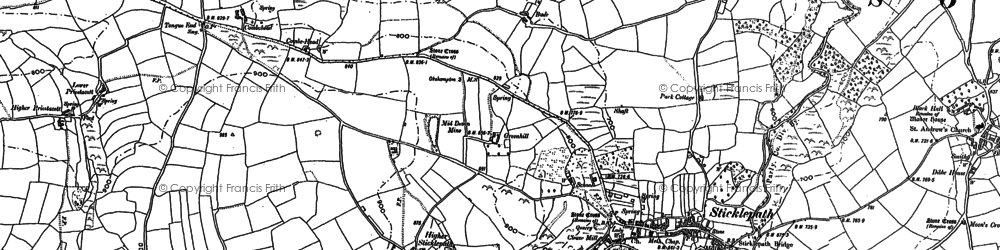 Old map of Willey in 1884