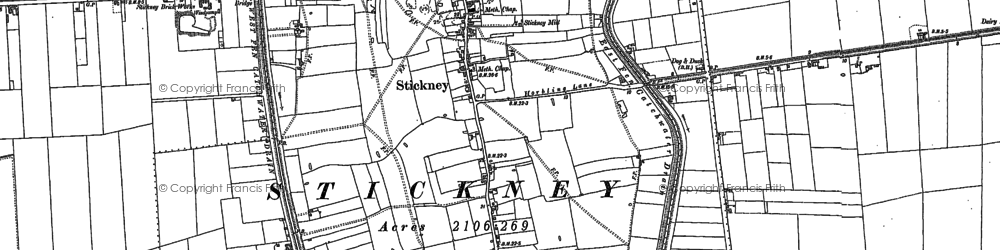 Old map of Whyte Acre in 1887