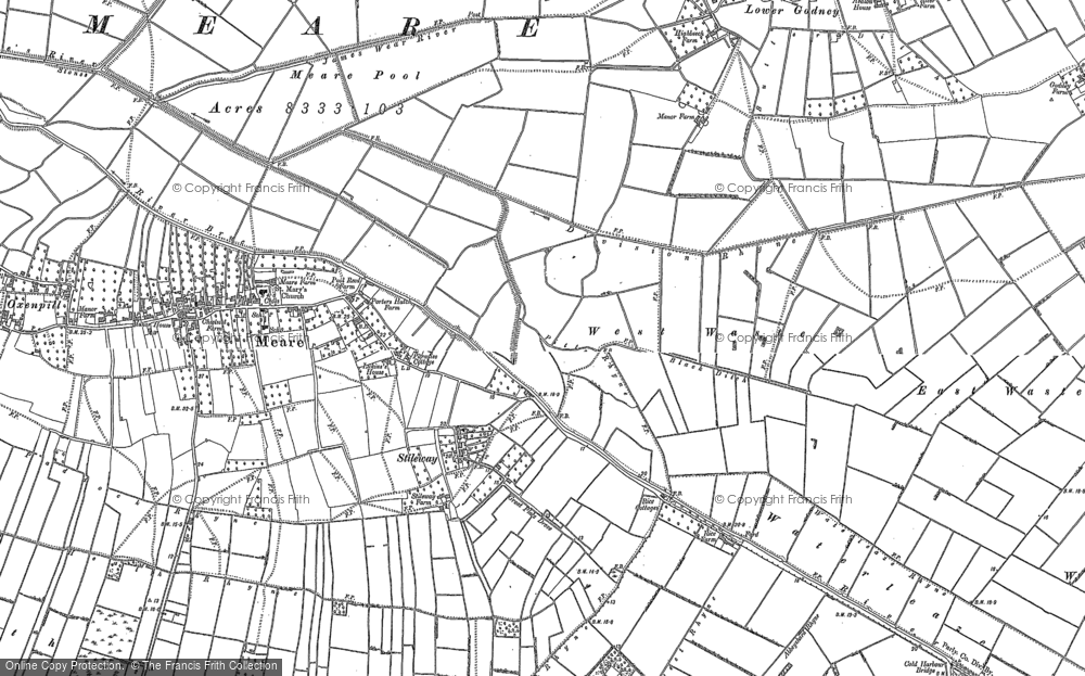 Old Map of Stileway, 1884 in 1884