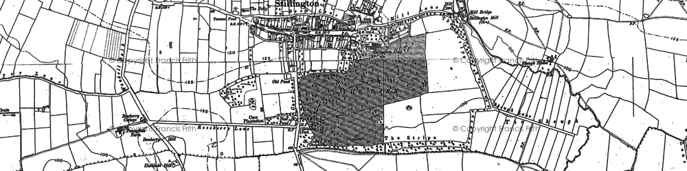 Old map of Stillington in 1888