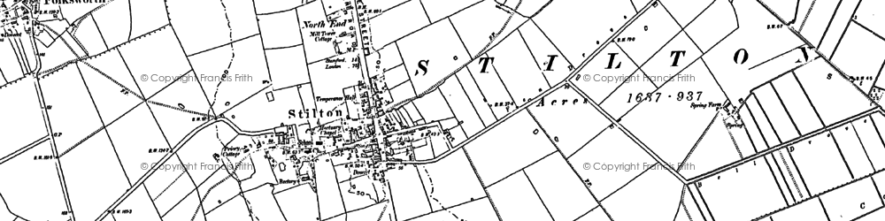 Old map of Stilton in 1887