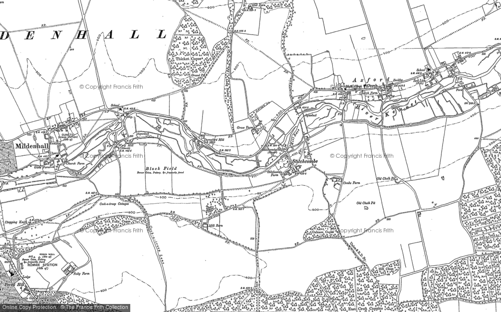 Old Map of Historic Map covering Ashlade Firs in 1899