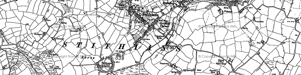 Old map of Hendra in 1878