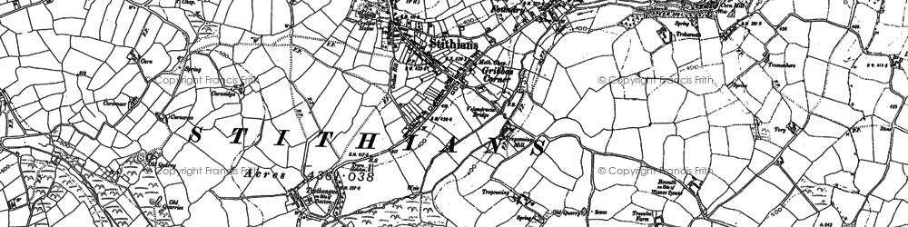 Old map of Seaureaugh Moor in 1878