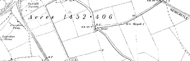 Old map of Ballathie centred on your home