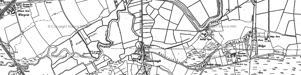Old map of Ridge in 1886