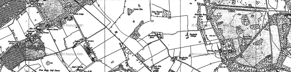 Old map of Stockbridge Village in 1891