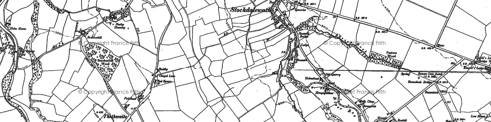 Old map of Stockdalewath in 1899
