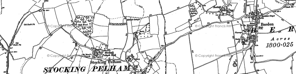Old map of East End in 1896