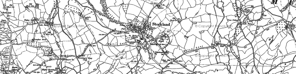 Old map of Stockland in 1887
