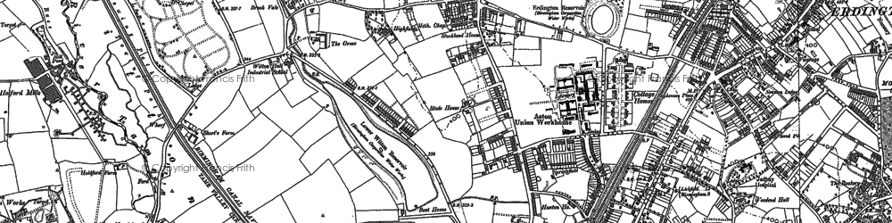 Old map of Witton Lakes in 1901