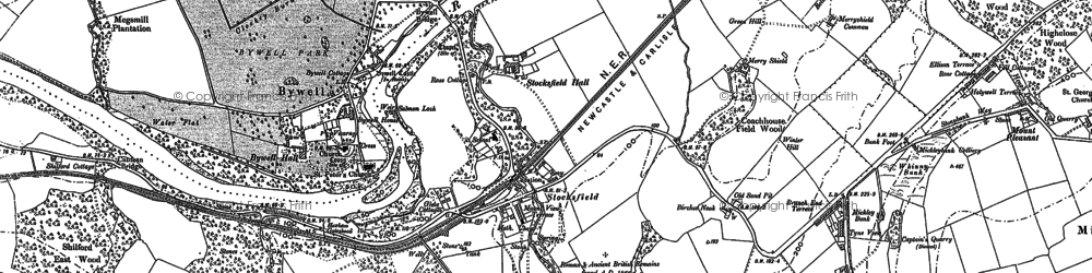 Old map of Stocksfield in 1895