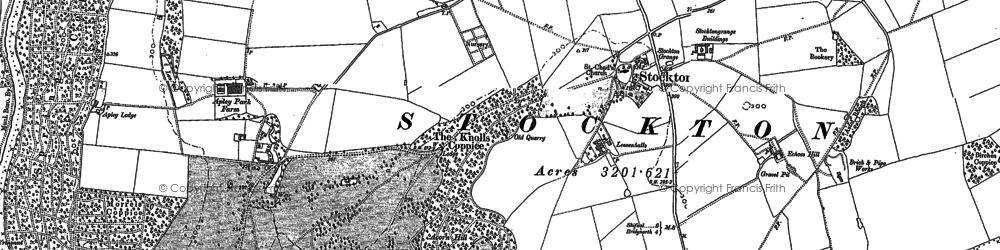 Old map of Leavenhalls, The in 1882