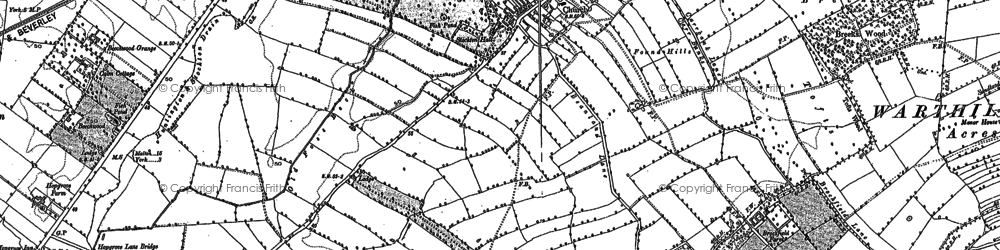 Old map of Old Foss Beck in 1890