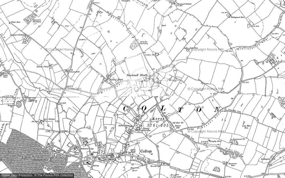 Old Map of Historic Map covering Admaston in 1881