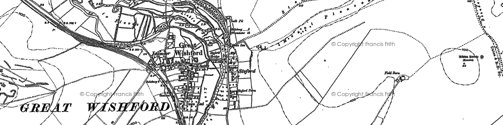 Old map of Stoford in 1899