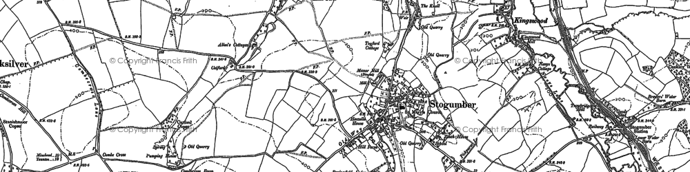 Old map of Stogumber in 1886