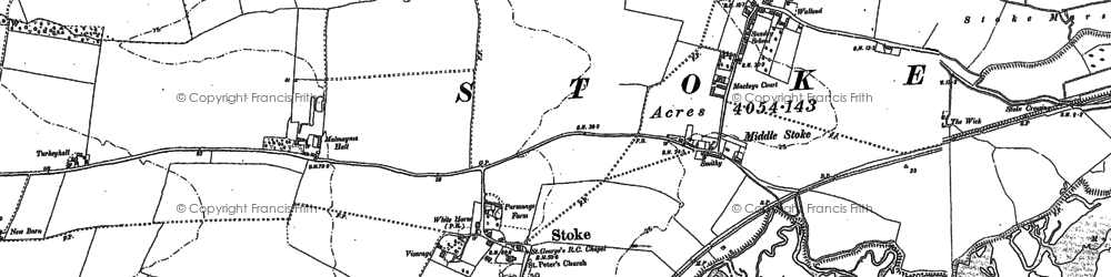 Old map of Stoke in 1895