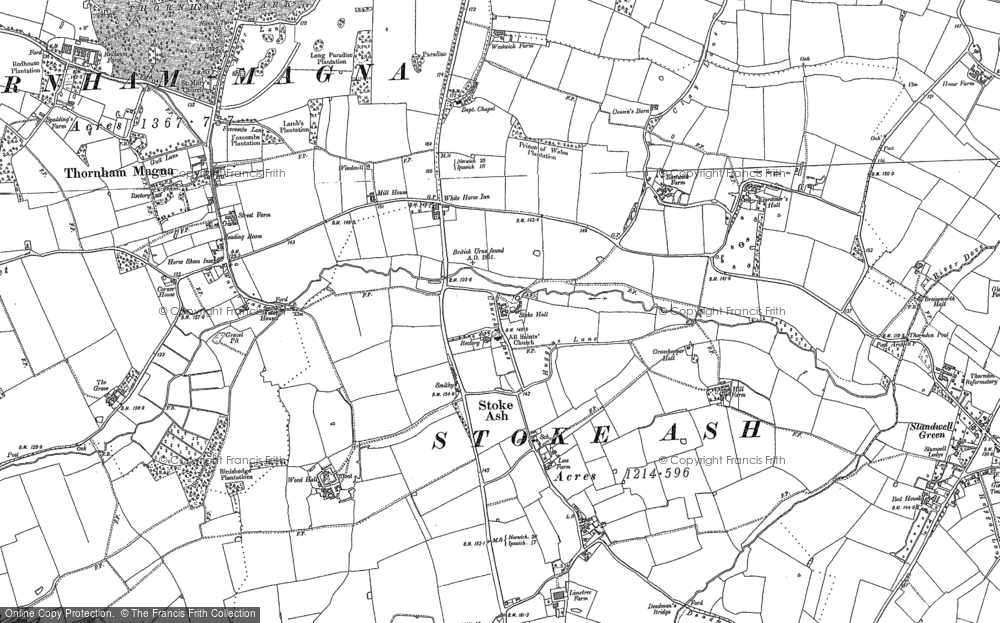 Old Map of Historic Map covering Wood Hall in 1885