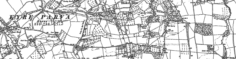 Old map of Bank Street in 1902