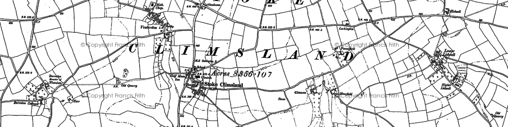 Old map of Stoke Climsland in 1905