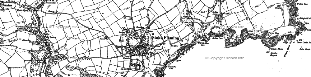 Old map of Leonard's Cove in 1904