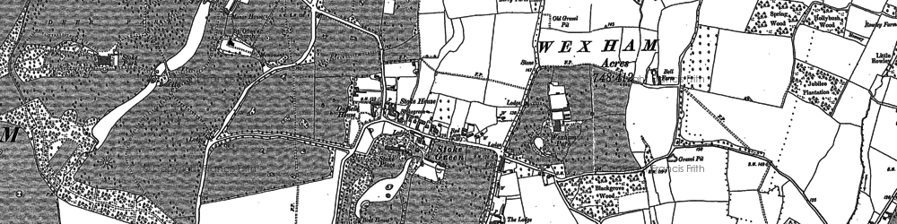 Old map of Wexham Street in 1897
