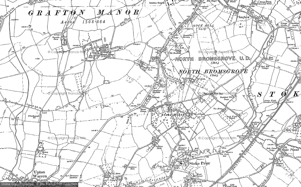 Old Map of Historic Map covering Avoncroft Mus in 1883