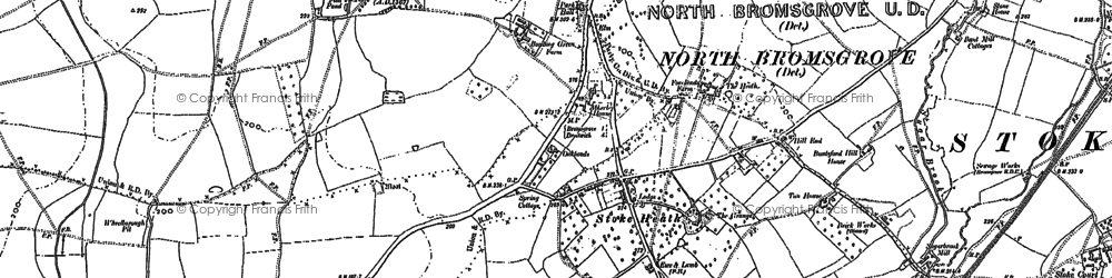 Old map of Avoncroft Mus in 1883