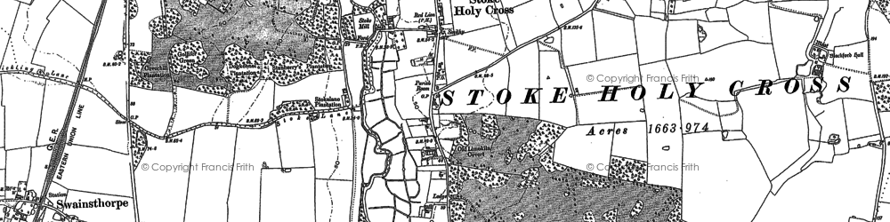 Old map of Whiteford Hall in 1881