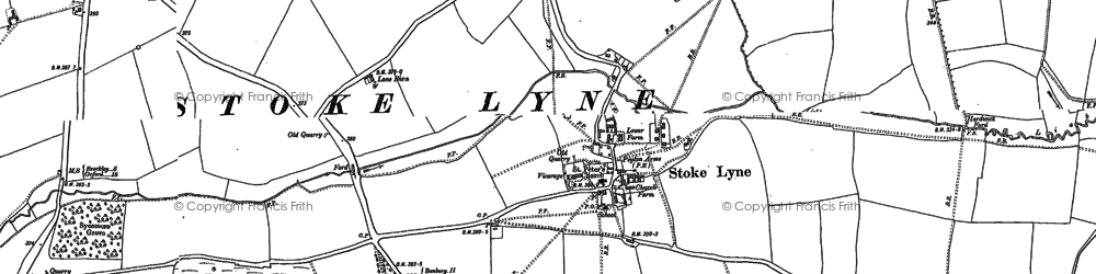 Old map of Lime Kiln Hovel in 1898