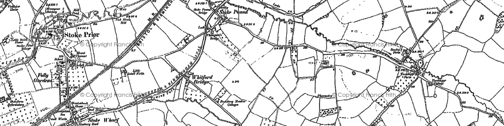 Old map of Whitford Bridge in 1883