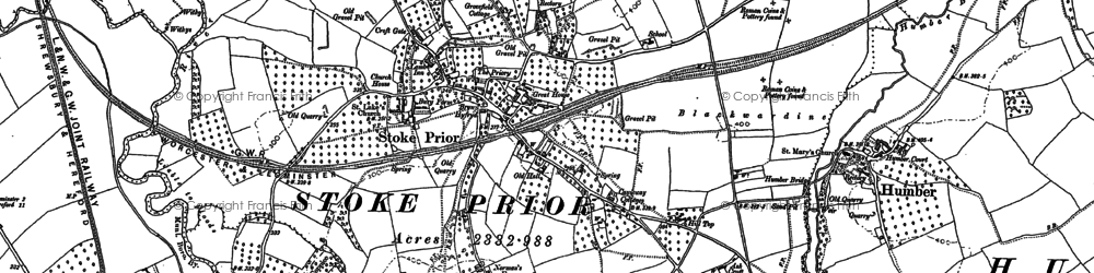 Old map of Wheelbarrow Castle in 1885