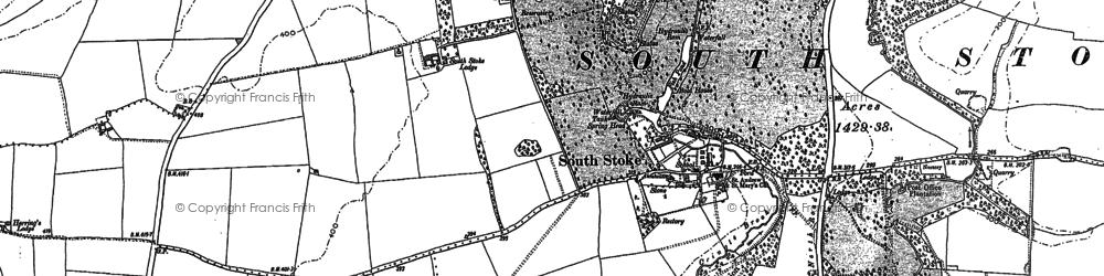 Old map of Stoke Rochford in 1887