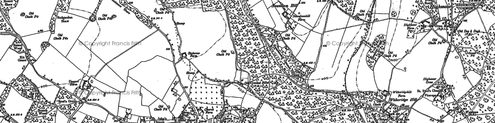 Old map of Stoke Row in 1897